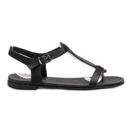 Filippo Svarta japanska sandaler