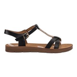 Filippo Klassiska svarta sandaler