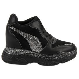 Vices Svarta Sneakers med VICE Brocade
