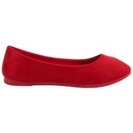 Röd Suede Red Ballerina VICES