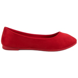 Suede Red Ballerina VICES röd