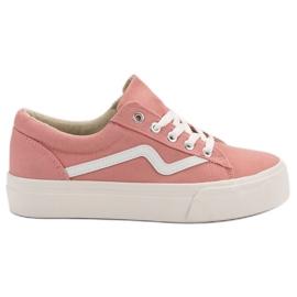 Kylie Trendiga rosa sneakers