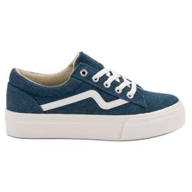 Kylie Snygga Jeans Sneakers blå