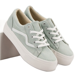 Kylie Modiga gröna sneakers
