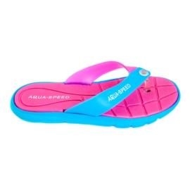 Tofflor Aqua-Speed Bali rosa-blå 03 479