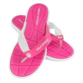 Tofflor Aqua-Speed Bali rosa och vit 05 479