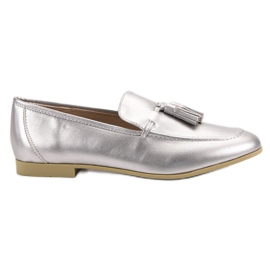 Vices Silver loafers med tofsar grå