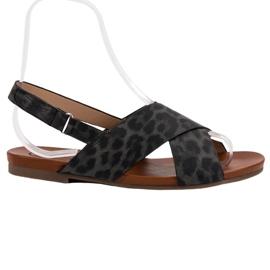 Kylie svart Spotted Sandals