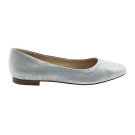 Ballerinaspumpar Caprice 22104 silverblå