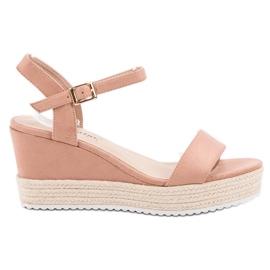 Seastar Bekväma Wedge Sandals rosa