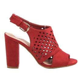 Seastar Openwork, uppbyggda sandaler röd
