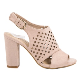 Seastar rosa Openwork, uppbyggda sandaler