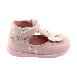 Ren But Ballerinas för flickor med båge Ren 1466 rosa