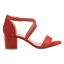 Seastar röd Suede Sandaler På En Bar