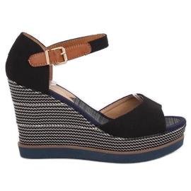 Sandaler, kilklackar, svart 9079 Svart