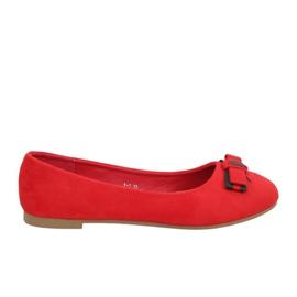 Röda kvinnors ballerinas X-3 Rojo