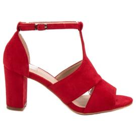 Vinceza Röda Sandaler