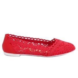 Röd Red openwork ballerinas 4701 Red