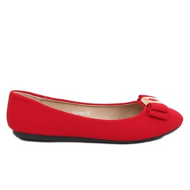 Röda kvinnors ballerina JM6675Q Rojo