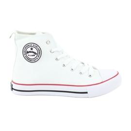Vit Sneakers White Tied American Club