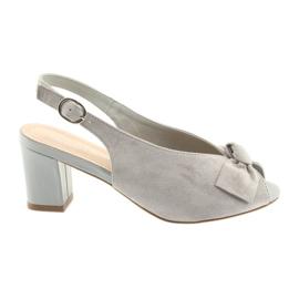 Suede läder sandaler Sergio Leone 801 grå