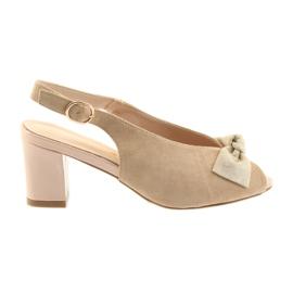 Suede läder sandaler Sergio Leone 801 brun