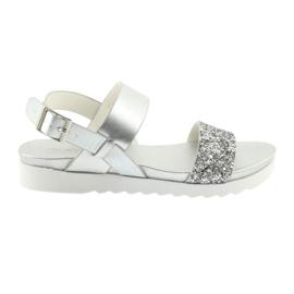 Bekväma silver sandaler Filippo 685 grå