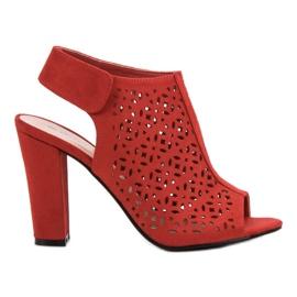 Queen Vivi röd Openwork Sandals With A Upper