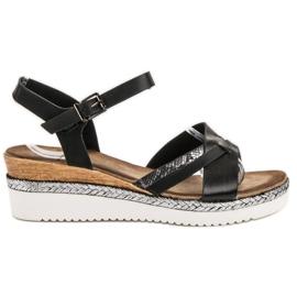 Evento Svarta sandaler på kil