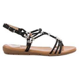 Cm Paris svart Plana sandaler