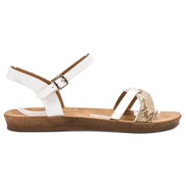 Seastar Modiga platta sandaler vit