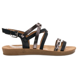 Seastar Fashionabla svarta sandaler