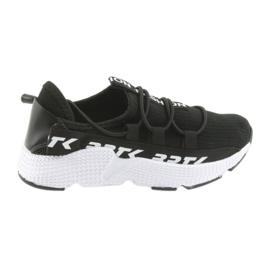 Bartek sport sneakers svart 55109 läderinsats