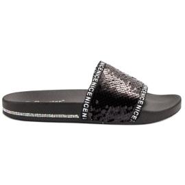 Seastar Sequins Flip Flops svart
