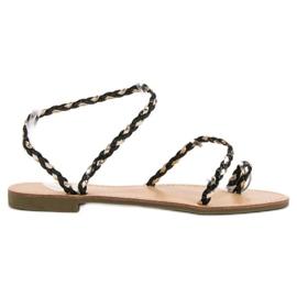 Comer svart Slip-on kvinnors sandaler