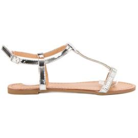 Abloom grå Lackerade platta sandaler
