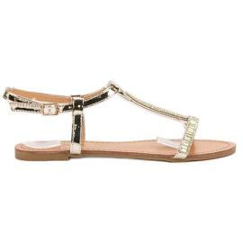 Abloom gul Lackerade platta sandaler