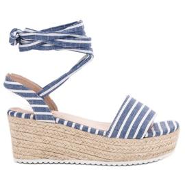 Seastar Sandaler med kilremmar blå