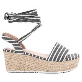 Seastar grå Sandaler med kilremmar