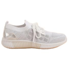 Primavera White Slip Shoes vit