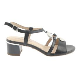 Sandaler med utsmyckning Caprice 28211 marinblå