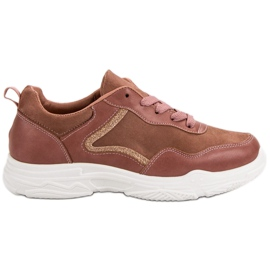SHELOVET Fashionabla sneakers rosa
