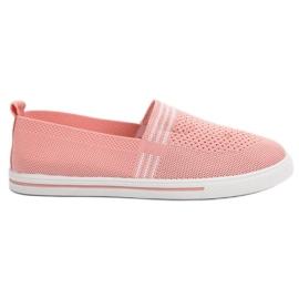 SHELOVET Textil sneakers rosa