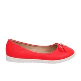 Röda kvinnors ballerinas YSD-04 Röd