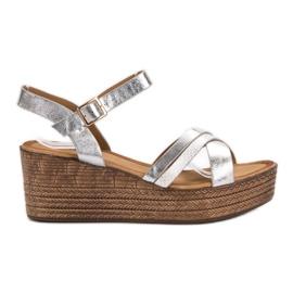 Seastar Lätta sandaler på kil grå