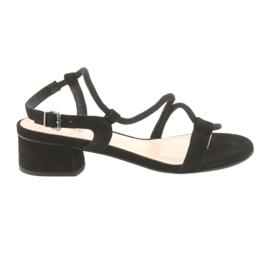 Svarta sandaler höga klackar Edeo 3386