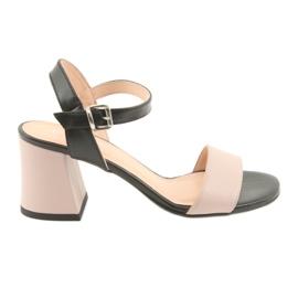 Kvinnors sandaler Edeo 3339 pulver / svart