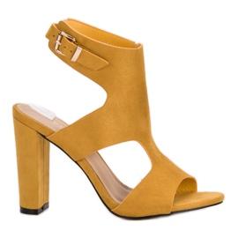 Ideal Shoes gul Sexiga höga klackar