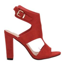 Ideal Shoes röd Sexiga höga klackar