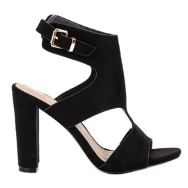 Ideal Shoes svart Sexiga höga klackar